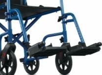 Blue Hugo Detachable Swing-Away Footrests B01-980BL