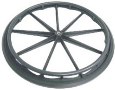 "Nova Wheel 24"" For 5000, 6000 Series Includes Hand Rim Serial# Bi, K"