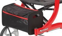 Side Mount Style Tote Bag for Red Nitro Rollator Walker by Drive Medical