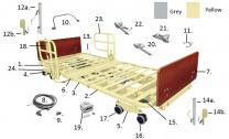 PrimeCare Drive Choice Bed 301 15901C H Pendant Yellow SP01-PCB601-03E-DM