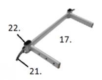 PrimeCare Bed 902 Head/Foot Board Locking Lever Brown Bolt SP01-TL500-57E-B
