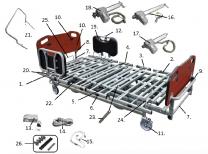 PrimeCare Bed 1752 Head Board Mounting Brackets SP02-PPB1750-1612E