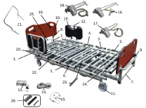 PrimeCare Bed 1752 Head/Foot Board Plugs SP02-PPB2000-17-03