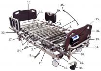 PrimeCare Bed 2002 Head/Foot Board Bolts Male SP02-UF16108051ED