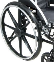 "24"" Rear Wheel for Viper and Sentra Recliner Wheelchair with Black Handrim"