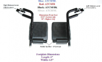Pair of Silver Footrests for Drive Medical Transport Chair